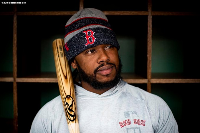BOSTON, MA - MAY 16: Hanley Ramirez #13 Boston Red Sox looks on before a game against the Oakland Athletics on May 16, 2018 at Fenway Park in Boston, Massachusetts. (Photo by Billie Weiss/Boston Red Sox/Getty Images) *** Local Caption *** Hanley Ramirez