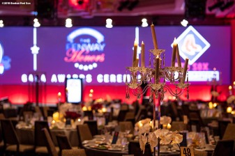 May 24, 2018, Boston, MA: Decor is shown during the Hall of Fame & Fenway Honors Gala at the Westin Copley Hotel in Boston, Massachusetts Thursday, May 24, 2018. (Photo by Billie Weiss/Boston Red Sox)