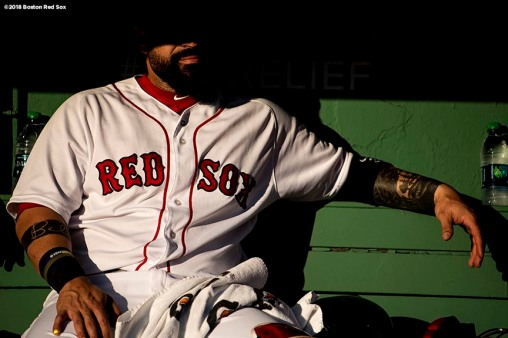 BOSTON, MA - MAY 29: Sandy Leon #3 of the Boston Red Sox looks on before a game against the Toronto Blue Jays on May 29, 2018 at Fenway Park in Boston, Massachusetts. (Photo by Billie Weiss/Boston Red Sox/Getty Images) *** Local Caption *** Sandy Leon