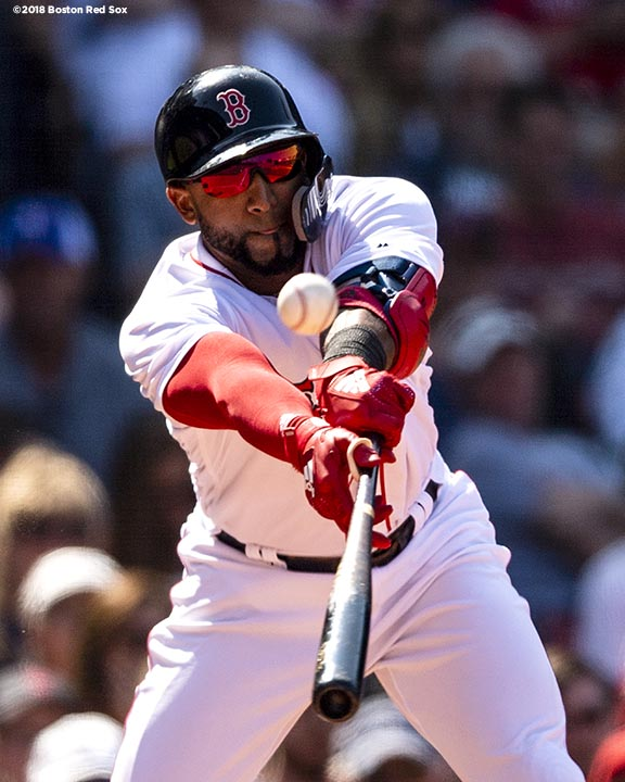 BOSTON, MA - MAY 30: Eduardo Nunez #36 of the Boston Red Sox hits an RBI double during the eighth inning of a game against the Toronto Blue Jays on May 30, 2018 at Fenway Park in Boston, Massachusetts. (Photo by Billie Weiss/Boston Red Sox/Getty Images) *** Local Caption *** Eduardo Nunez