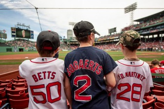 BOSTON, MA - JUNE 10: Young fans look on before a game between the Boston Red Sox and the Chicago White Sox on June 10, 2018 at Fenway Park in Boston, Massachusetts. (Photo by Billie Weiss/Boston Red Sox/Getty Images) *** Local Caption ***