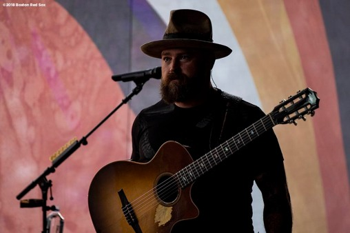 June 15, 2018, Boston, MA: Zac Brown of the Zac Brown Band waits backstage during the Zac Brown Band: Down the Rabbit Hole Live concert at Fenway Park in Boston, Massachusetts Friday, June 15, 2018. (Photo by Billie Weiss/Boston Red Sox)