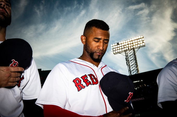 BOSTON, MA - JUNE 26: Eduardo Nunez #36 of the Boston Red Sox looks on before a game against the Los Angeles Angels of Anaheim on June 26, 2018 at Fenway Park in Boston, Massachusetts. (Photo by Billie Weiss/Boston Red Sox/Getty Images) *** Local Caption *** Eduardo Nunez