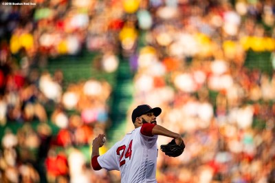 BOSTON, MA - JUNE 26: David Price #24 of the Boston Red Sox delivers during the first inning of a game against the Los Angeles Angels of Anaheim on June 26, 2018 at Fenway Park in Boston, Massachusetts. (Photo by Billie Weiss/Boston Red Sox/Getty Images) *** Local Caption *** David Price
