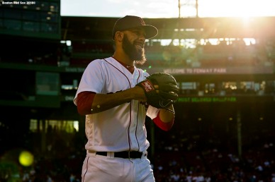 BOSTON, MA - JULY 12: David Price #24 of the Boston Red Sox walks onto the field before a game against the Toronto Blue Jays on July 12, 2018 at Fenway Park in Boston, Massachusetts. (Photo by Billie Weiss/Boston Red Sox/Getty Images) *** Local Caption *** David Price