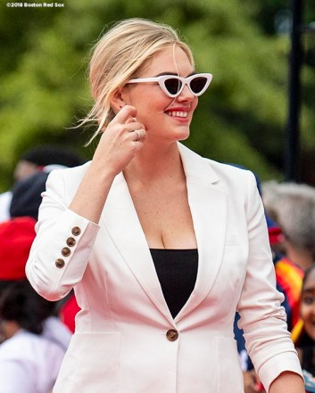 WASHINGTON, DC - JULY 17: Model Kate Upton attends the 89th MLB All-Star Game, presented by MasterCard red carpet at Nationals Park on July 17, 2018 in Washington, DC. (Photo by Billie Weiss/Boston Red Sox/Getty Images) *** Local Caption *** Kate Upton