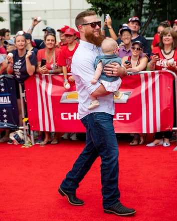 WASHINGTON, DC - JULY 17: Craig Kimbrel #46 of the Boston Red Sox and family attends the 89th MLB All-Star Game, presented by MasterCard red carpet at Nationals Park Tuesday, July 17, 2018 in Washington, DC. (Photo by Billie Weiss/Boston Red Sox/Getty Images) *** Local Caption *** Craig Kimbrel