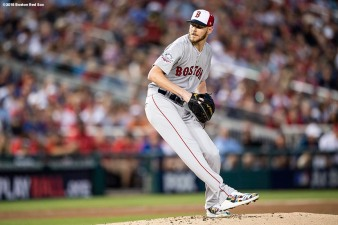 WASHINGTON, DC - JULY 17: Chris Sale #41 of the Boston Red Sox delivers during the first inning of the 89th MLB All-Star Game at Nationals Park Tuesday, July 17, 2018 in Washington, DC. (Photo by Billie Weiss/Boston Red Sox/Getty Images) *** Local Caption *** Chris Sale