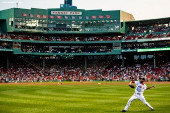 BOSTON, MA - AUGUST 5: David Price #24 of the Boston Red Sox warms up before a game against the New York Yankees on August 5, 2018 at Fenway Park in Boston, Massachusetts. (Photo by Billie Weiss/Boston Red Sox/Getty Images) *** Local Caption *** David Price