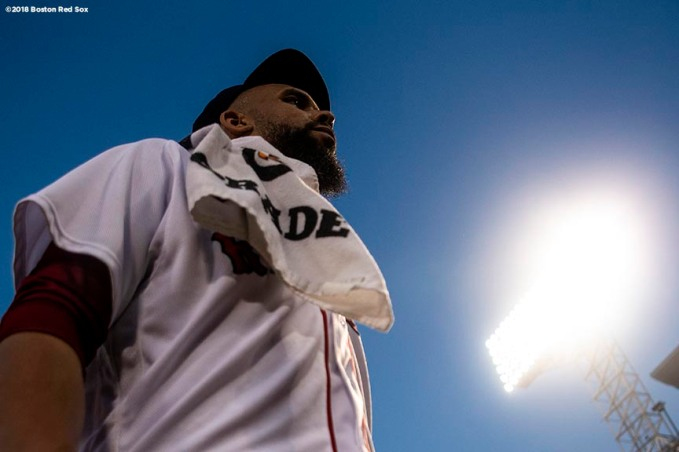 BOSTON, MA - AUGUST 5: David Price #24 of the Boston Red Sox looks on before a game against the New York Yankees on August 5, 2018 at Fenway Park in Boston, Massachusetts. (Photo by Billie Weiss/Boston Red Sox/Getty Images) *** Local Caption *** David Price