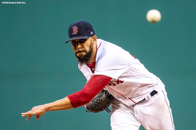 BOSTON, MA - AUGUST 18: David Price #24 of the Boston Red Sox delivers during the first inning of a game against the Tampa Bay Rays on August 18, 2018 at Fenway Park in Boston, Massachusetts. (Photo by Billie Weiss/Boston Red Sox/Getty Images) *** Local Caption *** David Price