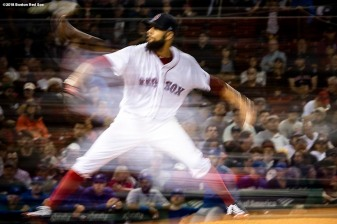 BOSTON, MA - SEPTEMBER 12: David Price #24 of the Boston Red Sox delivers during the fifth inning of a game against the Toronto Blue Jays on September 12, 2018 at Fenway Park in Boston, Massachusetts. (Photo by Billie Weiss/Boston Red Sox/Getty Images) *** Local Caption *** David Price