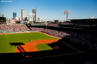 BOSTON, MA - SEPTEMBER 15: A general view during a game between the Boston Red Sox and the New York Mets on September 15, 2018 at Fenway Park in Boston, Massachusetts. (Photo by Billie Weiss/Boston Red Sox/Getty Images) *** Local Caption ***
