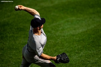 BOSTON, MA - SEPTEMBER 29: Brett Gardner #11 of the Boston Red Sox throws the ball during the second inning of a game against the New York Yankees on September 29, 2018 at Fenway Park in Boston, Massachusetts. (Photo by Billie Weiss/Boston Red Sox/Getty Images) *** Local Caption *** Brett Gardner