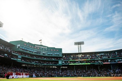 BOSTON, MA - SEPTEMBER 30: Members of the Boston Red Sox line up before a game against the New York Yankees on September 30, 2018 at Fenway Park in Boston, Massachusetts. (Photo by Billie Weiss/Boston Red Sox/Getty Images) *** Local Caption ***