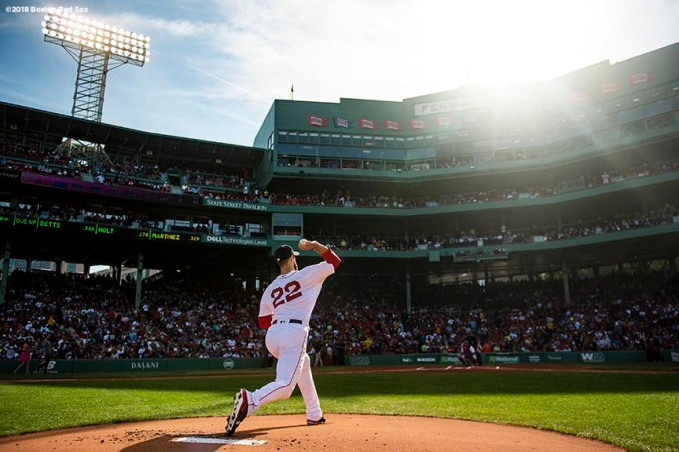 BOSTON, MA - SEPTEMBER 30: Rick Porcello #22 of the Boston Red Sox warms up on the mound before a game against the New York Yankees on September 30, 2018 at Fenway Park in Boston, Massachusetts. (Photo by Billie Weiss/Boston Red Sox/Getty Images) *** Local Caption *** Rick Porcello
