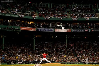 BOSTON, MA - OCTOBER 5: Chris Sale #41 of the Boston Red Sox delivers during the sixth inning of game one of the American League Division Series against the New York Yankees on October 5, 2018 at Fenway Park in Boston, Massachusetts. (Photo by Billie Weiss/Boston Red Sox/Getty Images) *** Local Caption *** Chris Sale