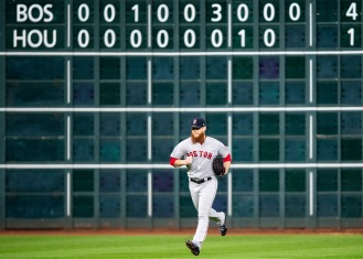 HOUSTON, TX - OCTOBER 18: Craig Kimbrel #46 of the Boston Red Sox enters the game during the ninth inning of game five of the American League Championship Series against the Houston Astros on October 18, 2018 at Minute Maid Park in Houston, Texas. (Photo by Billie Weiss/Boston Red Sox/Getty Images) *** Local Caption *** Craig Kimbrel