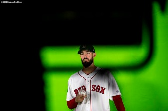 BOSTON, MA - OCTOBER 22: Rick Porcello #22 of the Boston Red Sox is filmed during a workout before the 2018 World Series on October 22, 2018 at Fenway Park in Boston, Massachusetts. (Photo by Billie Weiss/Boston Red Sox/Getty Images) *** Local Caption *** Rick Porcello