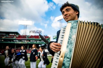 BOSTON, MA - NOVEMBER 17: A member of the Yale Bulldogs band performs during a game against the Harvard Crimson on November 17, 2018 at Fenway Park in Boston, Massachusetts. (Photo by Billie Weiss/Boston Red Sox/Getty Images) *** Local Caption ***