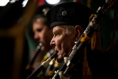 BOSTON, MA - NOVEMBER 18: The Brian Boru Pipe Band performs during the Fenway Hurling Classic on November 18, 2018 at Fenway Park in Boston, Massachusetts. (Photo by Billie Weiss/Boston Red Sox/Getty Images) *** Local Caption ***