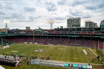 BOSTON, MA - NOVEMBER 18: A general view as Limerick faces Westford in a match during the Fenway Hurling Classic on November 18, 2018 at Fenway Park in Boston, Massachusetts. (Photo by Billie Weiss/Boston Red Sox/Getty Images) *** Local Caption ***
