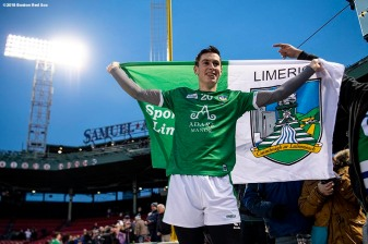 BOSTON, MA - NOVEMBER 18: Limerick celebrates after defeating Cork in the final match during the Fenway Hurling Classic on November 18, 2018 at Fenway Park in Boston, Massachusetts. (Photo by Billie Weiss/Boston Red Sox/Getty Images) *** Local Caption ***