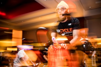 February 2, 2018, Boston, MA: The 2018 Cycle For Survival is held at Equinox in Boston, Massachusetts Friday, February 2, 2018. (Photo by Billie Weiss/Drawbridge Digital)