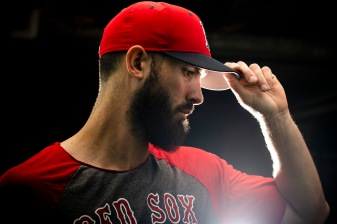 BOSTON, MA - SEPTEMBER 7: Rick Porcello #22 of the Boston Red Sox poses for a portrait before a game against the Houston Astros on September 7, 2018 at Fenway Park in Boston, Massachusetts. (Photo by Billie Weiss/Boston Red Sox/Getty Images) *** Local Caption *** Rick Porcello
