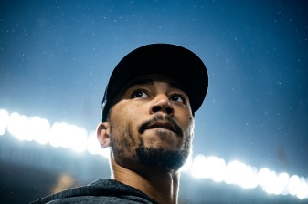 NEW YORK, NY - OCTOBER 8: Mookie Betts #50 of the Boston Red Sox looks on before game three of the American League Division Series against the New York Yankees on October 8, 2018 at Yankee Stadium in the Bronx borough of New York City. (Photo by Billie Weiss/Boston Red Sox/Getty Images) *** Local Caption *** Mookie Betts