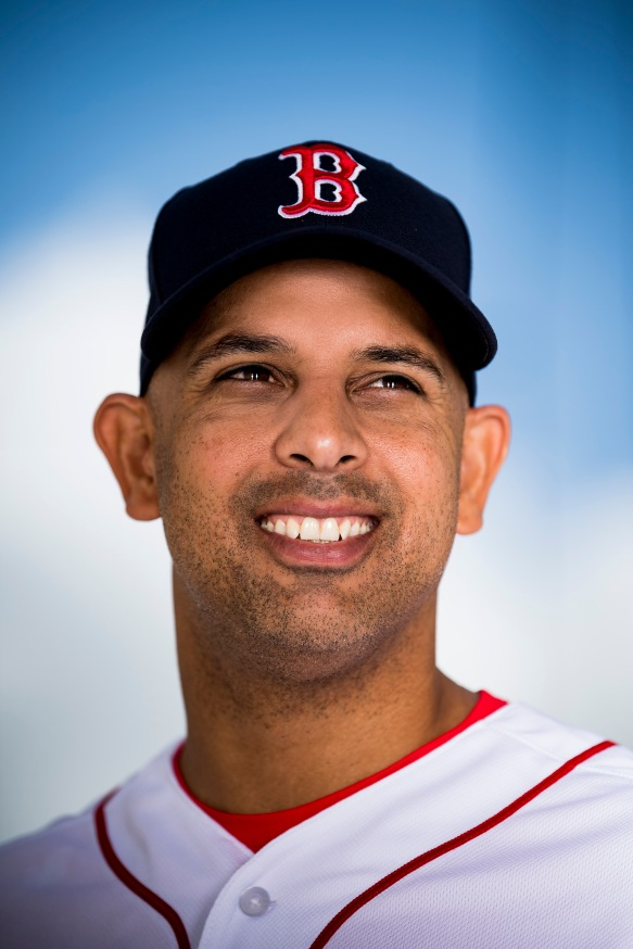 FT. MYERS, FL - FEBRUARY 11: Manager Alex Cora of the Boston Red Sox poses for a portrait during a team workout on February 11, 2018 at Fenway South in Fort Myers, Florida . (Photo by Billie Weiss/Boston Red Sox/Getty Images) *** Local Caption *** Alex Cora