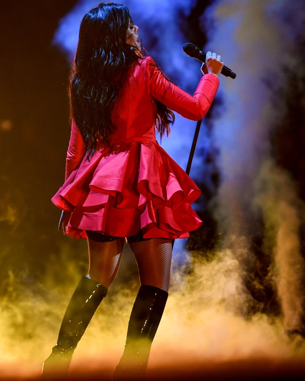 BOSTON, MA - DECEMBER 04: Camila Cabello performs at KISS 108's Jingle Ball 2018 at TD Garden on December 4, 2018 in Boston, Massachusetts. (Photo by Billie Weiss/Getty Images)