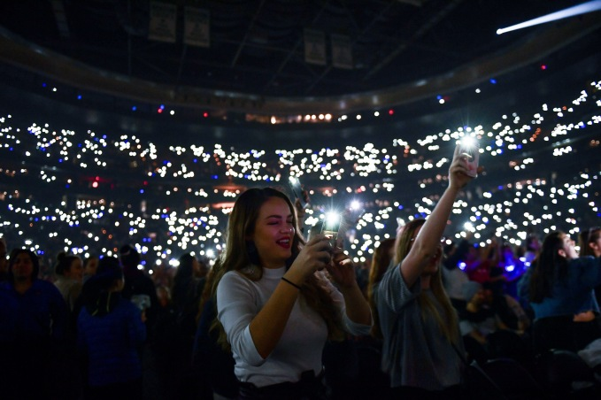 BOSTON, MA - DECEMBER 04: A fan reacts at KISS 108's Jingle Ball 2018 at TD Garden on December 4, 2018 in Boston, Massachusetts. (Photo by Billie Weiss/Getty Images)