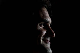 March 19, 2018, Chicago, IL: Roger Federer looks on during a press conference during a Laver Cup promotional event in Chicago, Illinois Monday, March 19, 2018. (Photo by Billie Weiss/Laver Cup)