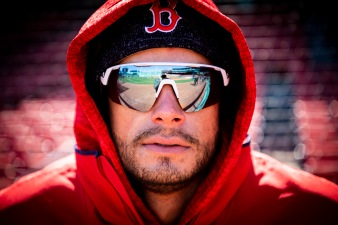 BOSTON, MA - APRIL 5: Joe Kelly #56 of the Boston Red Sox looks on before the Opening Day game against the Tampa Bay Rays on April 5, 2018 at Fenway Park in Boston, Massachusetts. (Photo by Billie Weiss/Boston Red Sox/Getty Images) *** Local Caption *** Joe Kelly
