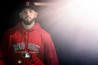 BOSTON, MA - APRIL 8: Blake Swihart #23 of the Boston Red Sox walks through the tunnel before a game against the Tampa Bay Rays on April 8, 2018 at Fenway Park in Boston, Massachusetts. (Photo by Billie Weiss/Boston Red Sox/Getty Images) *** Local Caption *** Blake Swihart