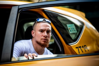 NEW YORK, NY - MAY 7: Christian Vazquez #7 of the Boston Red Sox takes a yellow cab on a team off-day on May 7, 2018 in New York City, New York. (Photo by Billie Weiss/Boston Red Sox/Getty Images) *** Local Caption *** Christian Vazquez