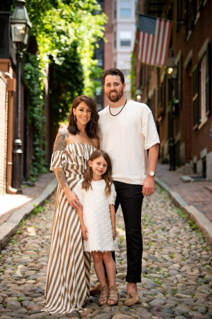 June 8, 2018, Boston, MA: The Hembree family poses for portraits in the Beacon Hill neighborhood of Boston, Massachusetts Friday, June 8, 2018. (Photo by Billie Weiss)