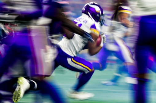 FOXBOROUGH, MA - DECEMBER 02: Ameer Abdoullah #31 of the Minnesota Vikings carries the ball during the fourth quarter against the New England Patriots at Gillette Stadium on December 2, 2018 in Foxborough, Massachusetts. (Photo by Billie Weiss/Getty Images)