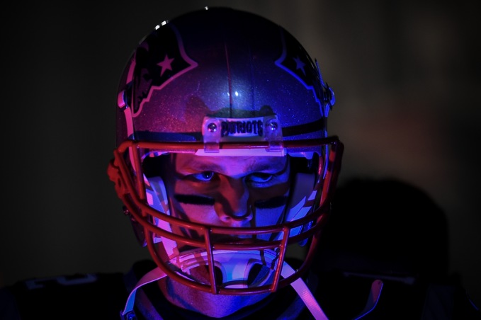 FOXBOROUGH, MA - DECEMBER 02: Tom Brady #12 of the New England Patriots walks through the tunnel before the game against the Minnesota Vikings at Gillette Stadium on December 2, 2018 in Foxborough, Massachusetts. (Photo by Billie Weiss/Getty Images)