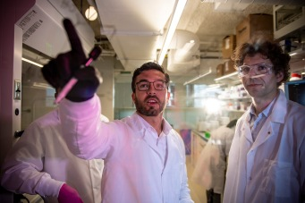 July 13, 2018, Boston, MA: Elektrofi scientists work in the laboratory at the Elektrofi office and lab in Boston, Massachusetts Friday, July 13 2018. (Photo by Billie Weiss/Elektrofi)
