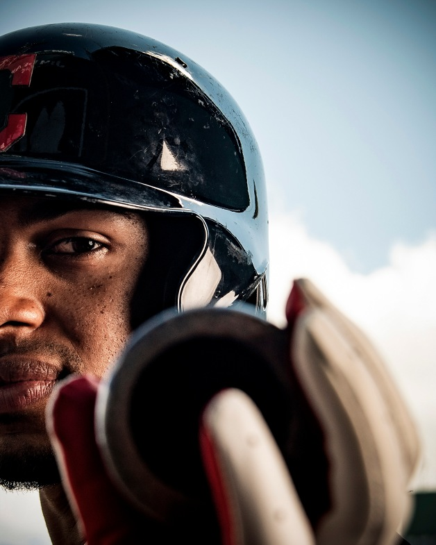 August 22, 2018, Boston, MA: Francisco Lindor of the Cleveland Indians poses for a portrait for Franklin Sports at Fenway Park in Boston, Massachusetts Wednesday, August 22, 2018. (Photo by Billie Weiss/Franklin Sports)