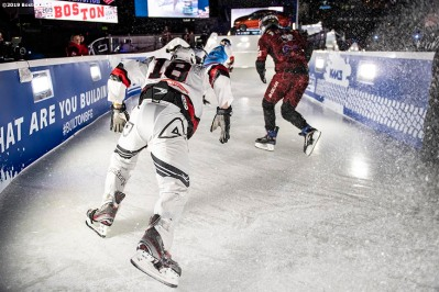 BOSTON, MA - FEBRUARY 8: Competition is held during the Red Bull Crashed Ice event on February 8, 2019 at Fenway Park in Boston, Massachusetts. (Photo by Billie Weiss/Boston Red Sox/Getty Images) *** Local Caption ***