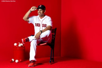 FT. MYERS, FL - FEBRUARY 19: Manager Alex Cora of the Boston Red Sox poses for a portrait on team photo day on February 19, 2019 at JetBlue Park at Fenway South in Fort Myers, Florida. (Photo by Billie Weiss/Boston Red Sox/Getty Images) *** Local Caption *** Alex Cora