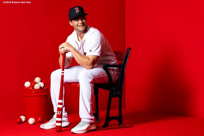 FT. MYERS, FL - FEBRUARY 19: Andrew Benintendi #16 of the Boston Red Sox poses for a portrait on team photo day on February 19, 2019 at JetBlue Park at Fenway South in Fort Myers, Florida. (Photo by Billie Weiss/Boston Red Sox/Getty Images) *** Local Caption *** Andrew Benintendi