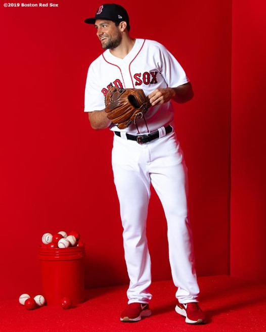 FT. MYERS, FL - FEBRUARY 19: Nathan Eovaldi #17 of the Boston Red Sox poses for a portrait on team photo day on February 19, 2019 at JetBlue Park at Fenway South in Fort Myers, Florida. (Photo by Billie Weiss/Boston Red Sox/Getty Images) *** Local Caption *** Nathan Eovaldi