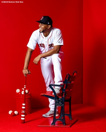 FT. MYERS, FL - FEBRUARY 19: Xander Bogaerts #2 of the Boston Red Sox poses for a portrait on team photo day on February 19, 2019 at JetBlue Park at Fenway South in Fort Myers, Florida. (Photo by Billie Weiss/Boston Red Sox/Getty Images) *** Local Caption *** Xander Bogaerts
