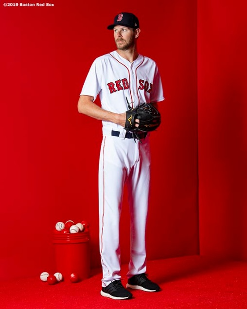FT. MYERS, FL - FEBRUARY 19: Chris Sale #41 of the Boston Red Sox poses for a portrait on team photo day on February 19, 2019 at JetBlue Park at Fenway South in Fort Myers, Florida. (Photo by Billie Weiss/Boston Red Sox/Getty Images) *** Local Caption *** Chris Sale