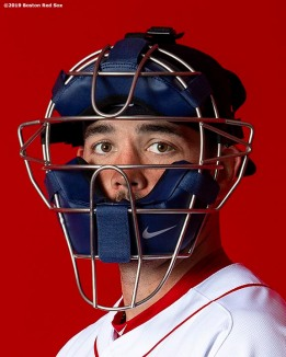 FT. MYERS, FL - FEBRUARY 19: Blake Swihart #23 of the Boston Red Sox poses for a portrait on team photo day on February 19, 2019 at JetBlue Park at Fenway South in Fort Myers, Florida. (Photo by Billie Weiss/Boston Red Sox/Getty Images) *** Local Caption *** Blake Swihart