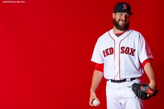 FT. MYERS, FL - FEBRUARY 19: Ryan Brasier #70 of the Boston Red Sox poses for a portrait on team photo day on February 19, 2019 at JetBlue Park at Fenway South in Fort Myers, Florida. (Photo by Billie Weiss/Boston Red Sox/Getty Images) *** Local Caption *** Ryan Brasier